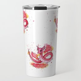 Shiny Dragonair Fan Art Travel Mug