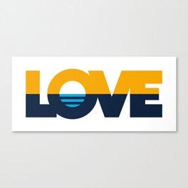 LOVE - People's Flag of Milwaukee Canvas Print