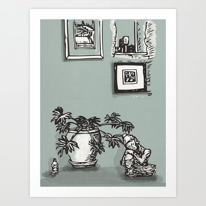Down Farm Barn Art Print