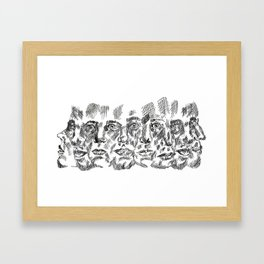 Moving Heads Framed Art Print