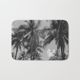Palm Trees Black and White Photography Bath Mat