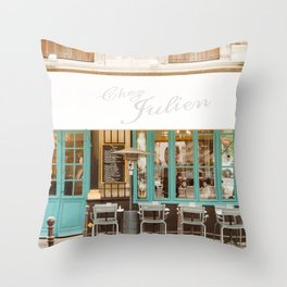 Chez Julien Throw Pillow