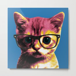 Pop Art Cat Metal Print