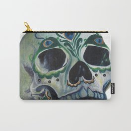 Peacock Skull Carry-All Pouch