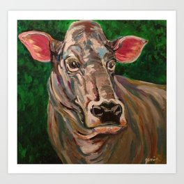 Brown Swiss Cow Art Print