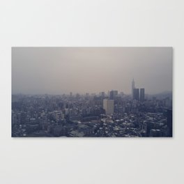 Grey cityscape Canvas Print