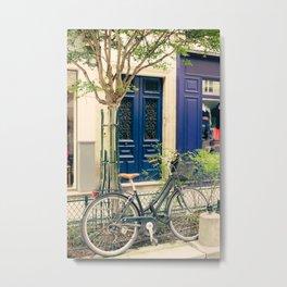 Bicycle in the Marais, Paris Metal Print