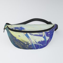 Abstract sunrise - orange, blue and yellow - Fanny Pack