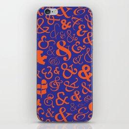 Ampersands - Blue & Orange iPhone Skin
