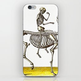 Horse Skeleton & Rider iPhone Skin