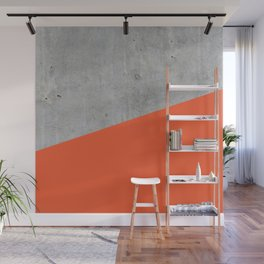 Concrete and Flame Color Wall Mural
