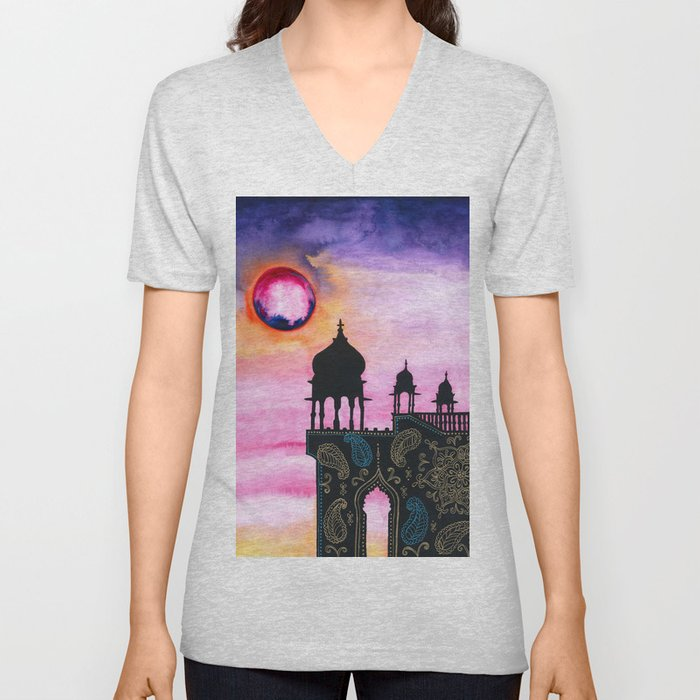 Rajasthan Sunset Unisex V-Neck