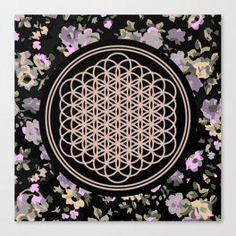 This Is Sempi-floral Canvas Print