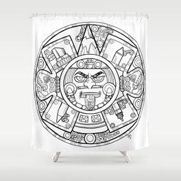 Pencil Wars Shield Shower Curtain