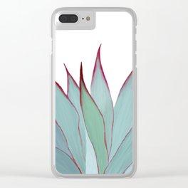 Elegant Agave Fringe Illustration Clear iPhone Case