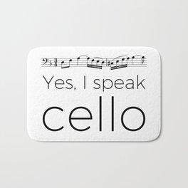 I speak cello Bath Mat