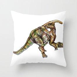 Parasaurolophus Throw Pillow