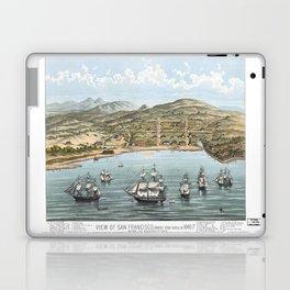SAN FRANCISCO CALIFORNIA city old map Father Day art print poster Laptop & iPad Skin