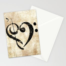 I Heart Music Stationery Cards