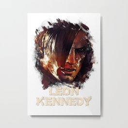 Leon Kennedy - RE Metal Print