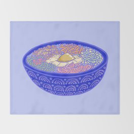 Bibimbap Bowl Throw Blanket