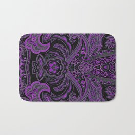Paisley 3 Purple Bath Mat