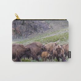 Buffalo On The Move In Yellowstone Carry-All Pouch