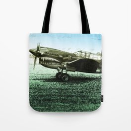 Curtiss P-40 Warhawk Drawing Tote Bag