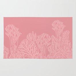 Dusty Pink Coral Garden Rug
