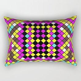 Mosaic X - Abstract, tiled, mosaic, geometric pattern Rectangular Pillow