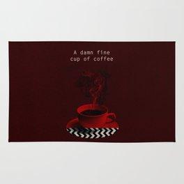 """Twin Peaks"" - A damn fine cup of coffee Rug"