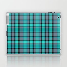 Teal Plaid Laptop & iPad Skin