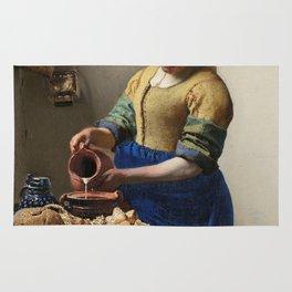The milkmaid, Johannes Vermeer, ca. 1660 Rug