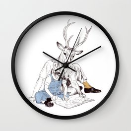 Bestial father and son Wall Clock