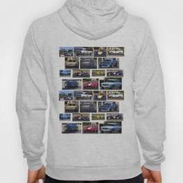 Historic Car Collage Hoody