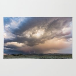 Yellowstone National Park - Sunset storm over the Washburn Range Rug