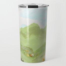 Alpine Views with Flowers Travel Mug