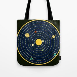 Atomic Solar System Tote Bag