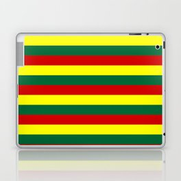 red green yellow stripes Laptop & iPad Skin