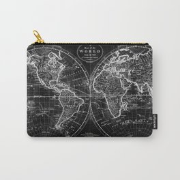 Black and White World Map (1795) Inverse Carry-All Pouch