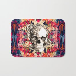 You are not here Day of the Dead Rose Skull. Bath Mat