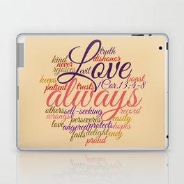 Christian Love Never Fails 1 Cor. 13:1-8 Laptop & iPad Skin