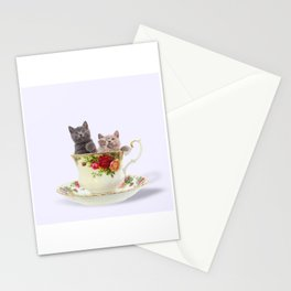 Tea Cup Kitties Stationery Cards