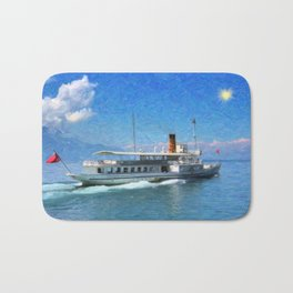 Vintage ship Bath Mat