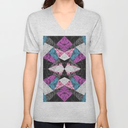 Marble Geometric Background G438 Unisex V-Neck