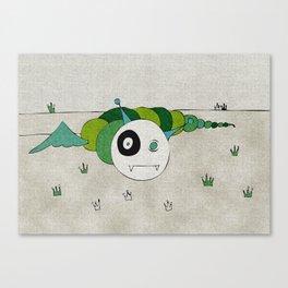 Green Toothworm Canvas Print