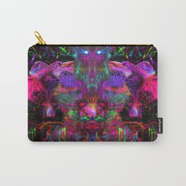 7 Temporal Spirits (psychedelic, psytrance, totem, fluorescent, visionary art) Carry-All Pouch