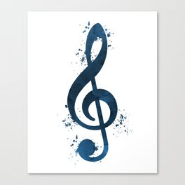 Treble clef Canvas Print
