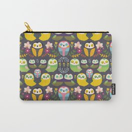 Owls and flowers Carry-All Pouch