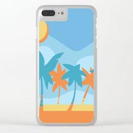 beach fun times Clear iPhone Case